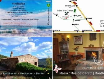 "Retiro: ""Escuela de Conciencia"" en Mas de Caret [Montblanc] (Tarragona)"