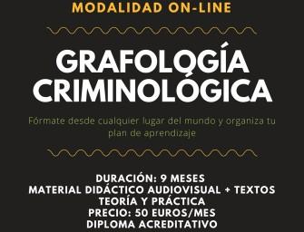 [CURSO]  2º CICLO GRAFOLOGÍA CRIMINOLÓGICA